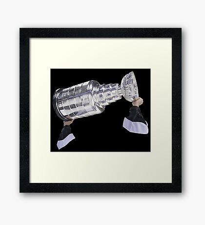 Hoisting the Cup Framed Print
