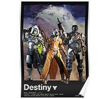 DESTINY - Hunter, Warlock, Guardian Poster