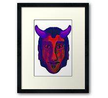 Devil/Demon Head - Available in variety of Products Framed Print