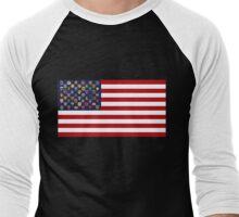 State Trooper, Highway Patrol, State Police, USA Law Enforcement Flag Men's Baseball ¾ T-Shirt