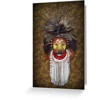 Gourd mask Greeting Card