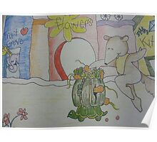 Aswald The Anteater At The Fruit Grove Poster