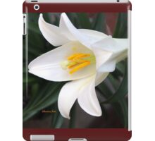 The Easter Lily ~ a Biblical Flower iPad Case/Skin