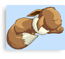 Sleepy Eevee Canvas Print