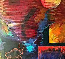 "Ancient Bull, 24"" x 30"" by Patrick Leonard"