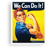 Rosie the Riveter classic wartime image Canvas Print