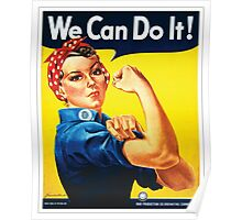 Rosie the Riveter classic wartime image Poster