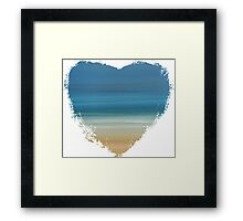 Salt - Heart Framed Print