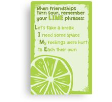 LIME phrases Canvas Print
