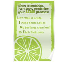 LIME phrases Poster