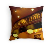 NEW YORK BAGELS Throw Pillow