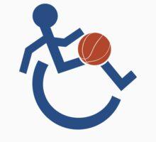 Wheelchair Basketball Symbol Design by movieshirtguy