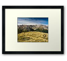 mountains at avalanche peak Framed Print