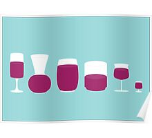 Cougar Town - Wine Glasses Poster
