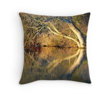 The river Thames at Pangbourne Throw Pillow
