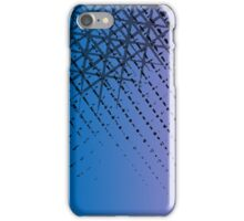 Violet ombre crosshatching  iPhone Case/Skin