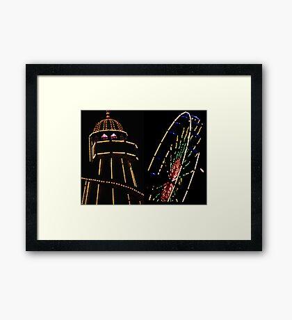 Helter Skleters & Ferris Wheels Framed Print