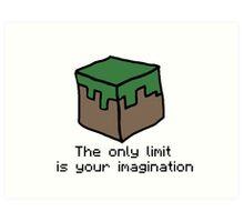 Minecraft Imagination Quote Art Print