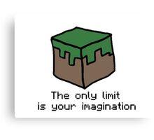 Minecraft Imagination Quote Canvas Print