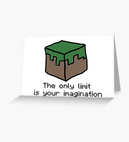 Minecraft Imagination Quote Greeting Card