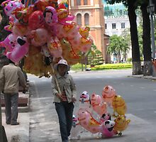 Selling balloon on the street of Ho Chi Minh by MightyMike