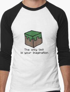 Minecraft Imagination Quote Men's Baseball ¾ T-Shirt