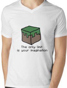 Minecraft Imagination Quote Mens V-Neck T-Shirt