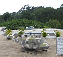 UH1 Helicopter used in Vietnam War at the rooftop of the Reunification Centre by MightyMike
