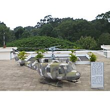 UH1 Helicopter used in Vietnam War at the rooftop of the Reunification Centre Photographic Print