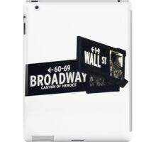 Cnr of Wall st and Broadway iPad Case/Skin