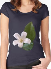 Single White Blossom Women's Fitted Scoop T-Shirt