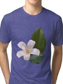 Single White Blossom Tri-blend T-Shirt