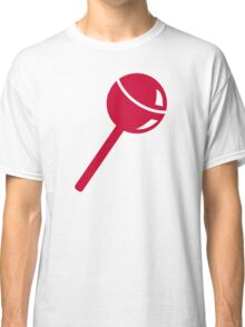 Red lollipop lolly Classic T-Shirt
