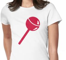 Red lollipop lolly Womens Fitted T-Shirt