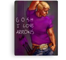 gosh I love arrows Canvas Print