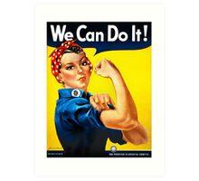 Rosie the Riveter - US World War II Propaganda Poster Art Print