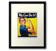 Rosie the Riveter - US World War II Propaganda Poster Framed Print