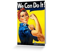 Rosie the Riveter - US World War II Propaganda Poster Greeting Card