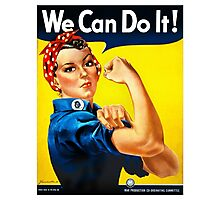 Rosie the Riveter - US World War II Propaganda Poster Photographic Print