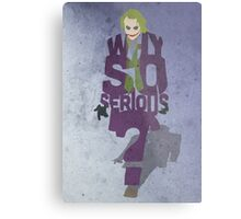 Joker from The Dark Knight Why So Serious? Metal Print
