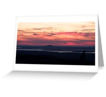 Sunset from Cadillac Mountain Greeting Card
