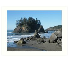 Pacific Coastline Art Print