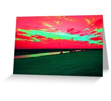 Martian Sunset over Blakeney Greeting Card