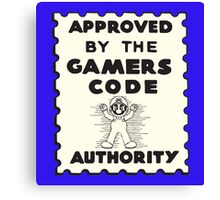 Gamers Code Authority Canvas Print