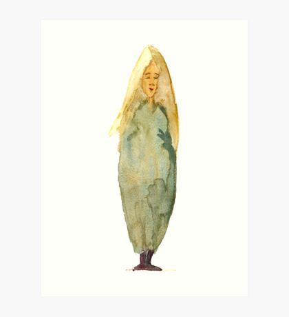 Blond woman - 1 Art Print