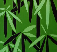 Pop Art Bamboo Pattern by NathanDukesArt