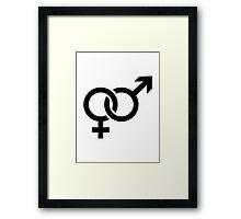 Male female couple Framed Print