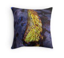 An Autumn Leaf Throw Pillow