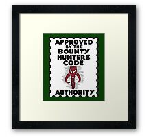 Bounty Hunters Code Authority Framed Print