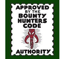 Bounty Hunters Code Authority Photographic Print